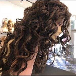 Accessories - Wig Long Freepart Fullcap Long Curly Wig New 2018